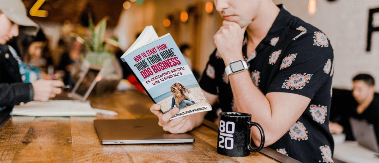 dog business book concept art