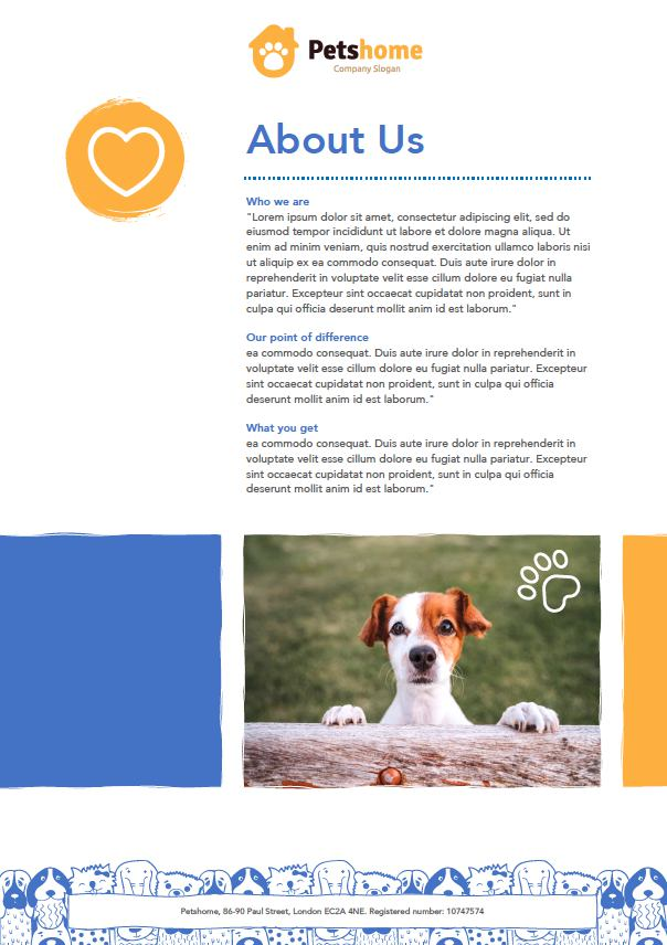 Dog Business document example
