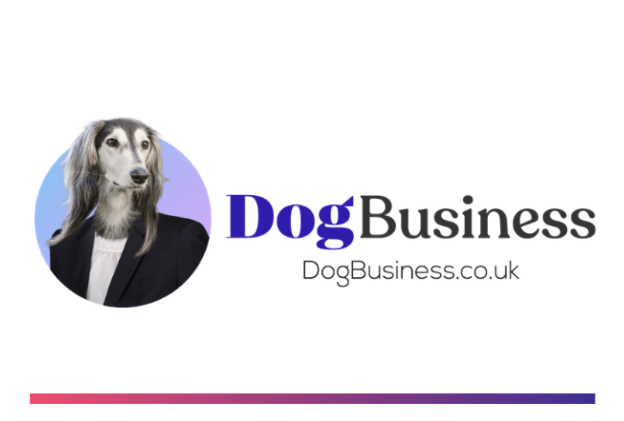 Dogbusiness.co.uk Logo with coloured footer