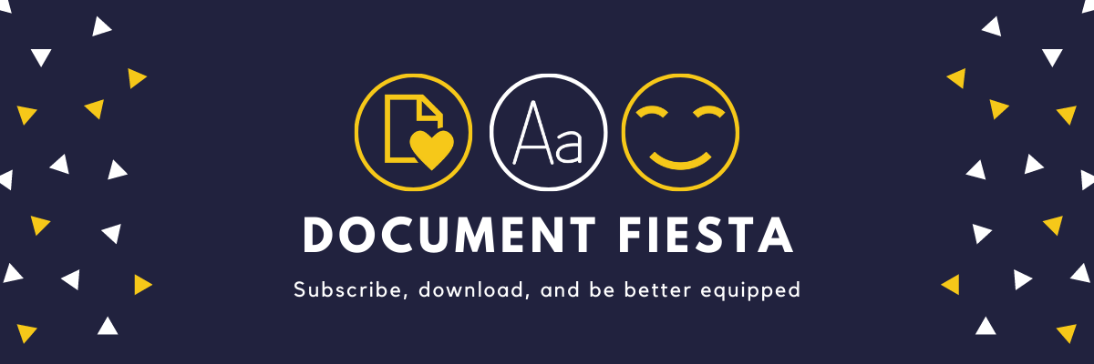 Document Fiesta. An advertisement banner for our Document packs on Subscription