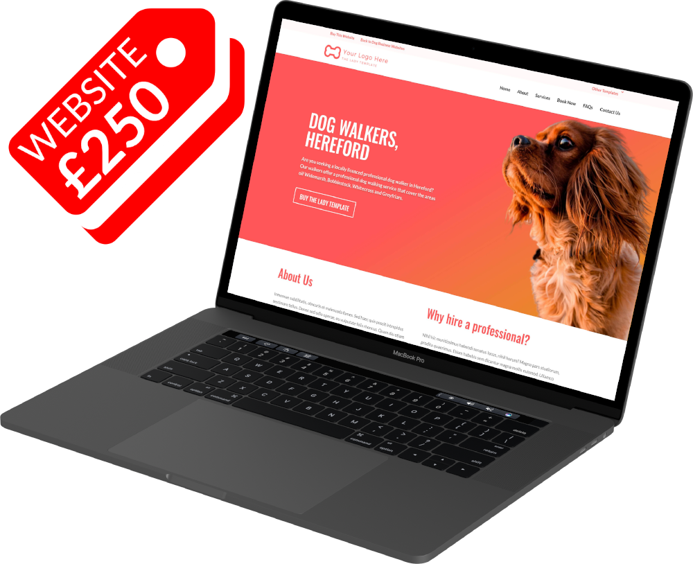 Dog Business Websites from only £250